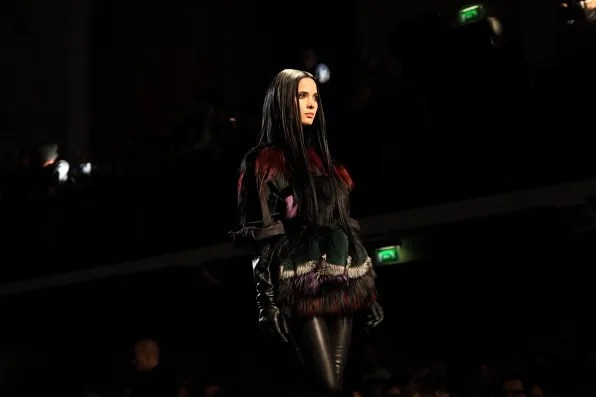 Hanaa Ben Abdesslem at Jean Paul Gaultier Fall Winter 2012 fashion show