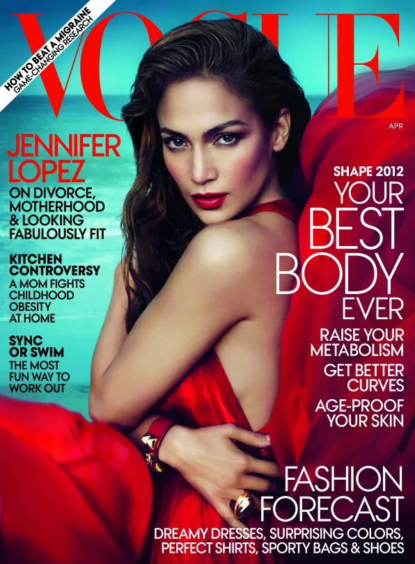 Jennifer Lopez for American Vogue April 2012 Cover