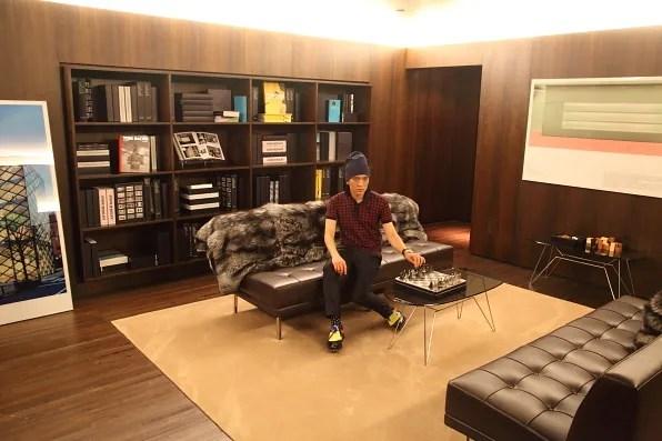 Bryanboy inside VIP room of Prada Store, Crystals Las Vegas