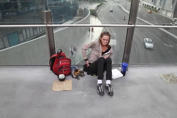 Beggar in Las Vegas