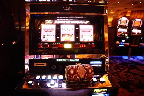 Bally slot machine at Bellagio Las Vegas