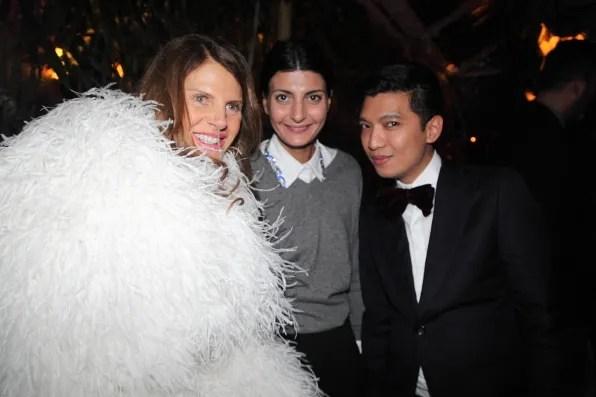 Anna Dello Russo, Giovanna Battaglia, Bryanboy at Brandolini house