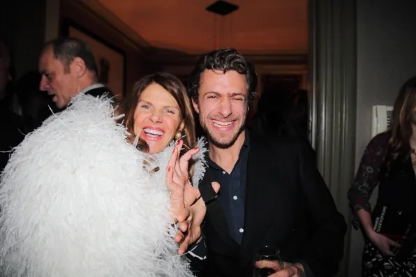 Anna Dello Russo and Francesco Carrozzini at Lifestyle Mirror launch