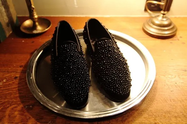 Louis Leeman Paris shoes fall winter 2012 black caviar bead loafers