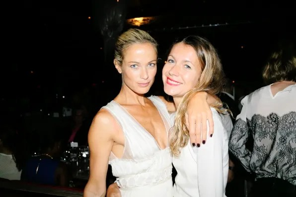 Carolyn Murphy and Natalie Joos at the Marchesa spring summer 2013 dinner