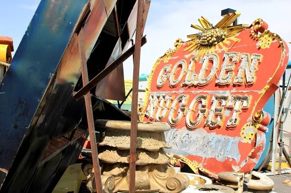 Golden Nugget sign at Neon Museum Las Vegas