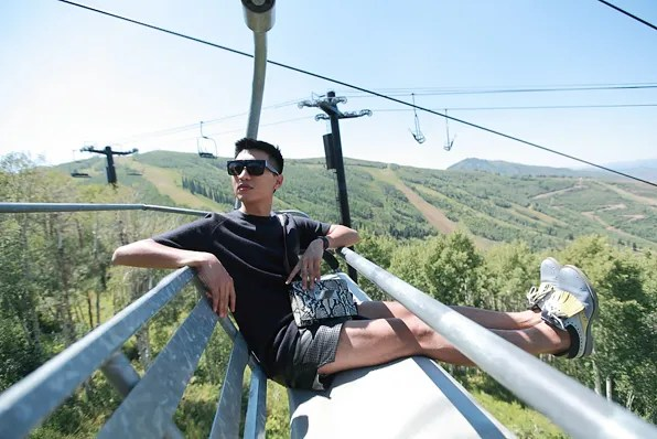Bryanboy at the scenic lift ride PAYDAY at Park City Mountain Resort