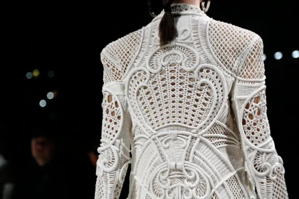 Back of a white spring summer 2013 Balmain jacket
