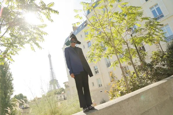 Bryanboy and the Eiffel Tower in Paris