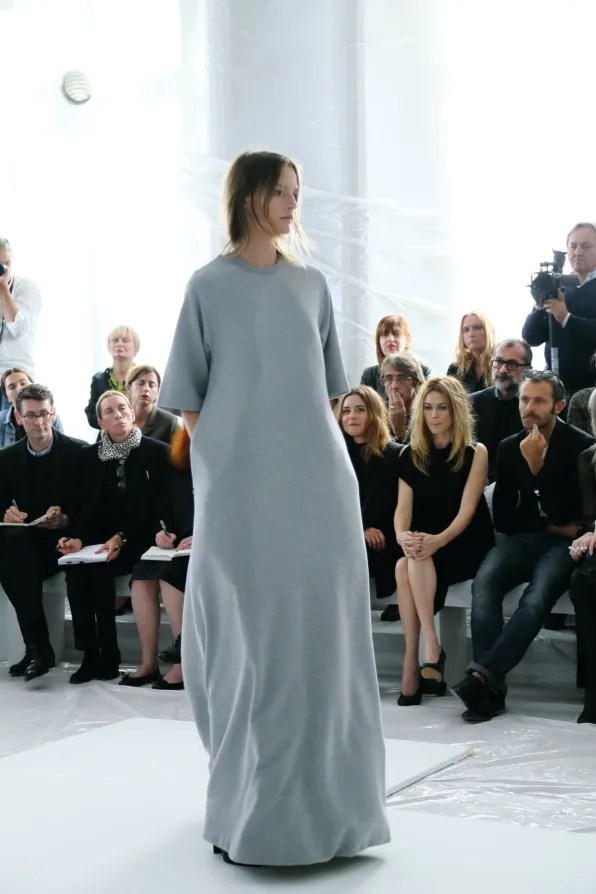 Maison Martin Margiela spring summer 2013 gray t-shirt dress