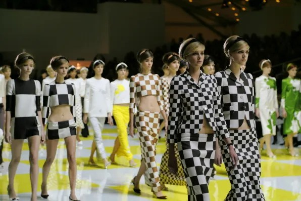 A photo of the finale of the Louis Vuitton spring summer 2013 fashion show