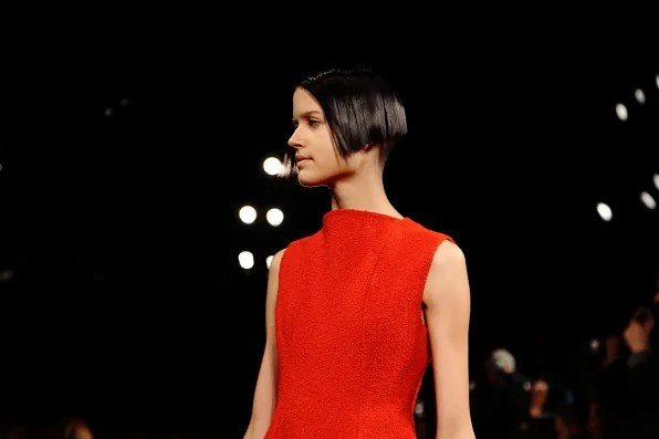 Hair at Calvin Klein fall winter 2012