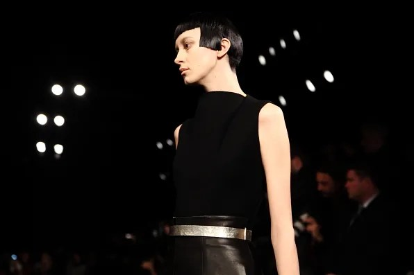 Razor sharp bob at Calvin Klein fall winter 2012