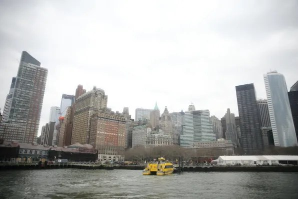 View of Financial District from Hudson River