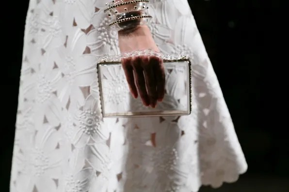Clear Valentino evening clutch from spring summer 2013 collection