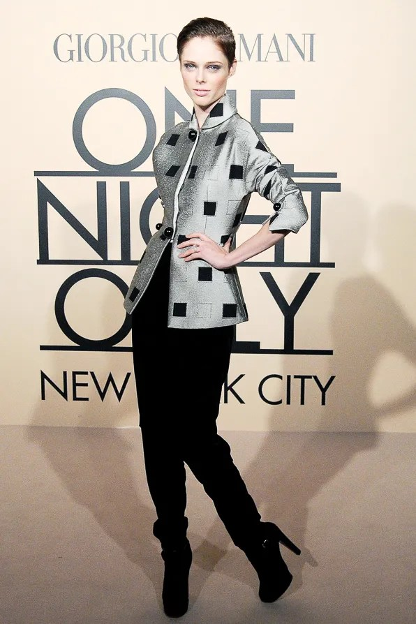 Coco Rocha at Armani One Night Only New York City event
