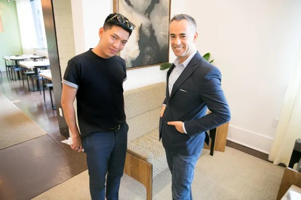 Bryanboy and Francisco Costa at Andaz Hotel, Savannah Georgia
