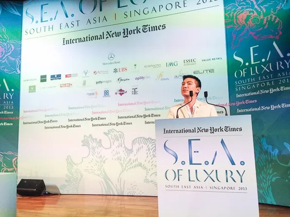 Bryanboy at the INYT Luxury Conference 2013 at Capella Sentosa Island Singapore