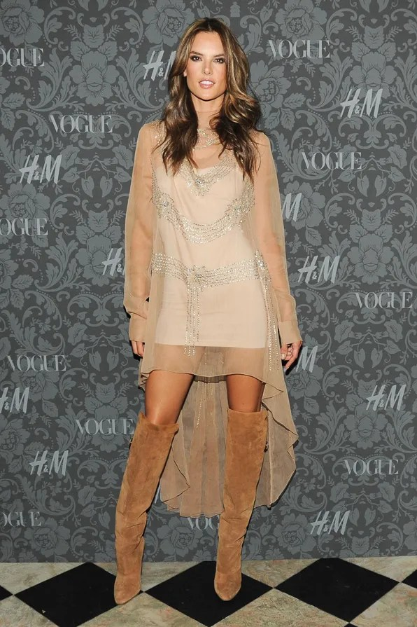 Alessandra Ambrosio at the H&M x Vogue Between the Shows party