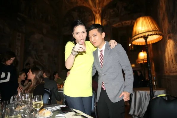 Ingrid Chua-Go and Bryanboy at Palazzo Capponi, Florence