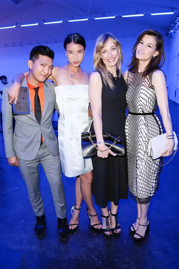 Bryanboy, Lily Kwong, Laura Burdese and Hanneli Mustaparta at Calvin Klein party BaselWorld 2013