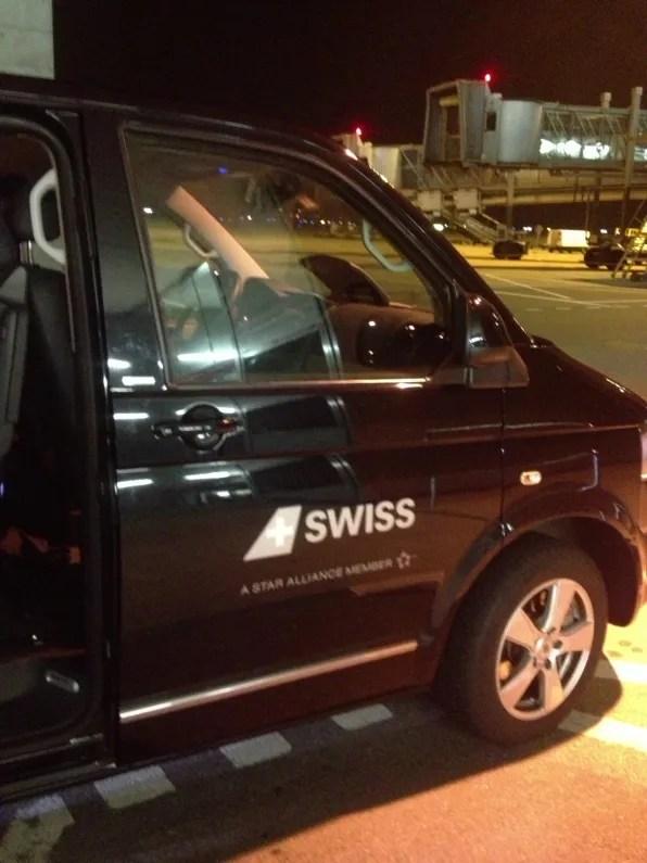 Swiss van for boarding gate