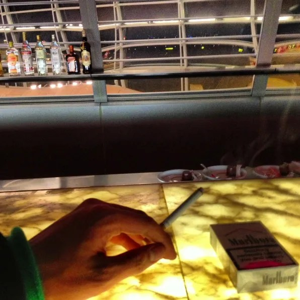 Smokers Bar at Swiss lounge, Zurich