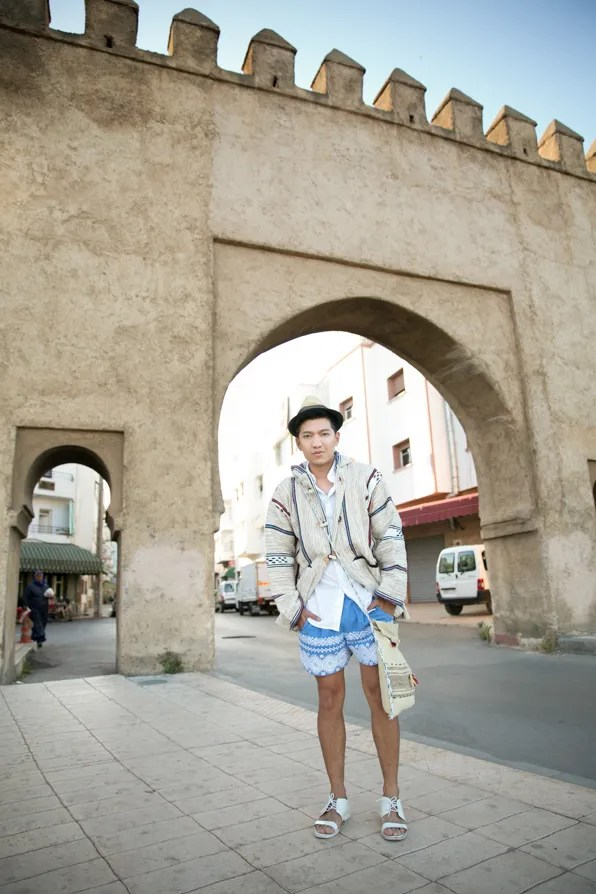 Bryanboy in Rabat, Morocco wearing spring/summer 2013 SUNO shorts