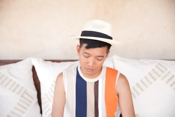 Bryanboy wearing a Celine top in Ibiza