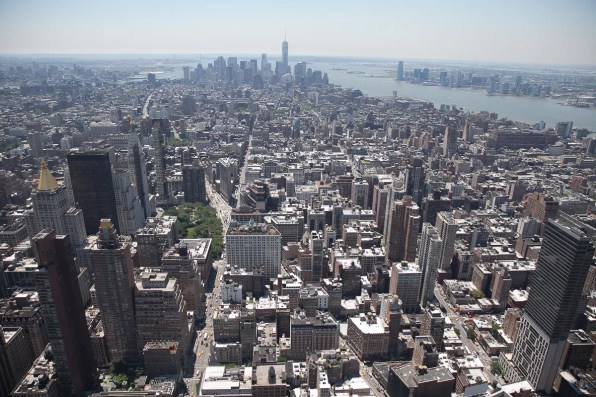 Downtown Manhattan, New York Skyline from Empire State Building