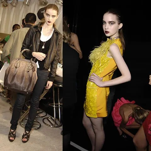 Ali Michael backstage at Lanvin, Spring/Summer 2008. Photos by Style.com