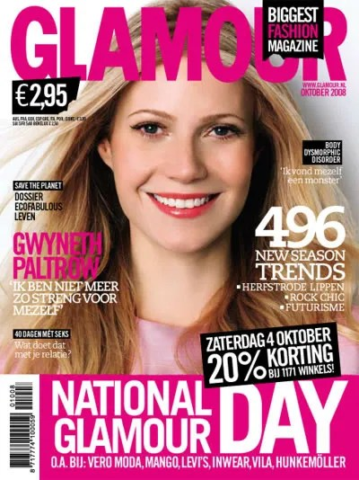 Gwyneth Paltrow, Glamour Netherlands October 2008