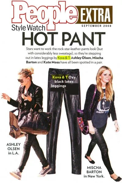 Kova & T Oxy Leggings, Ashley Olsen, Mischa Barton, People Magazine
