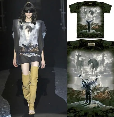 Martin Margiela ripped-off David Penfound's Summoning the Storm t-shirt by The Mountain