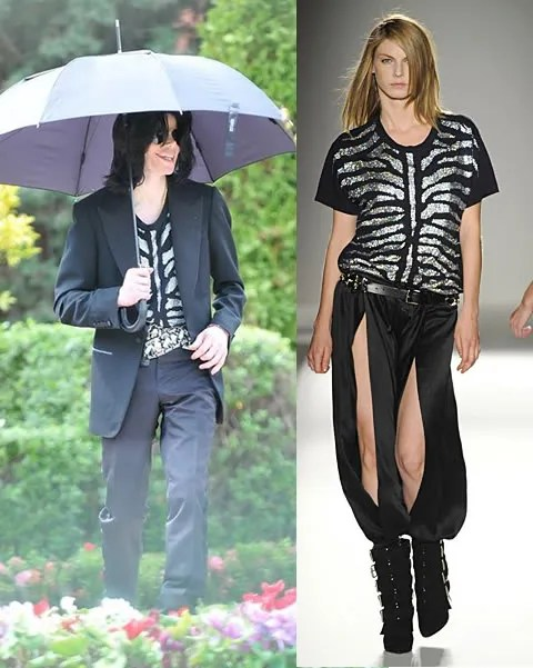 Michael Jackson wearing Balmain Fall/Winter 2009