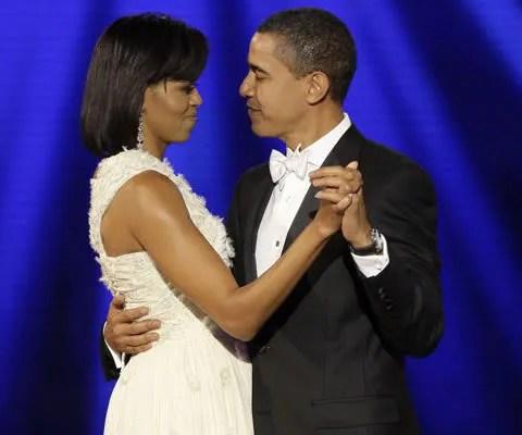Michelle Obama's white dress by Jason Wu.