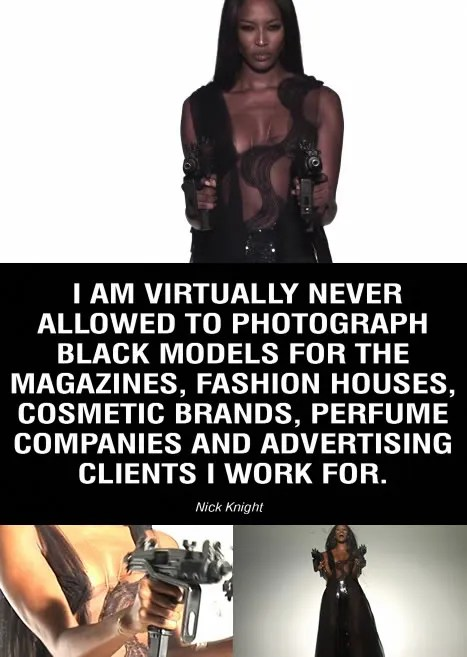 Untitled by Nick Knight, Naomi Campbell, fashion racism movie, showstudio