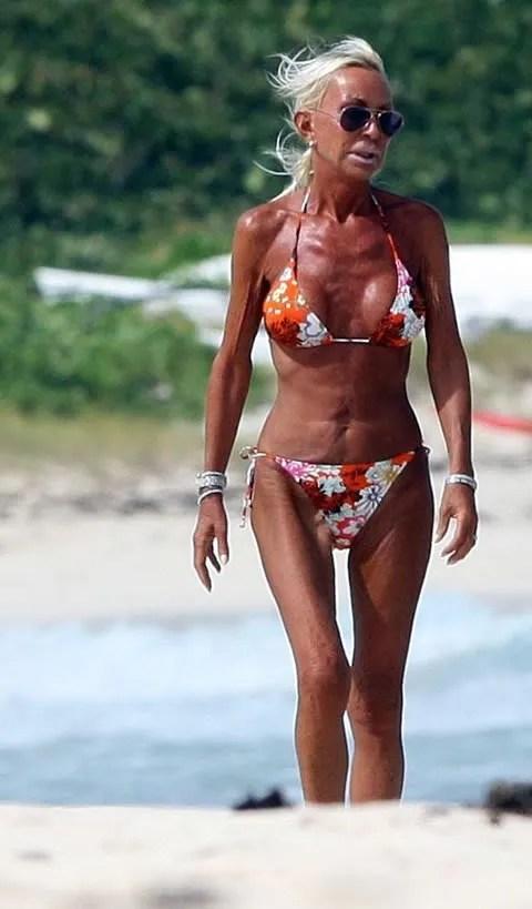 Donatella Versace bikini picture.