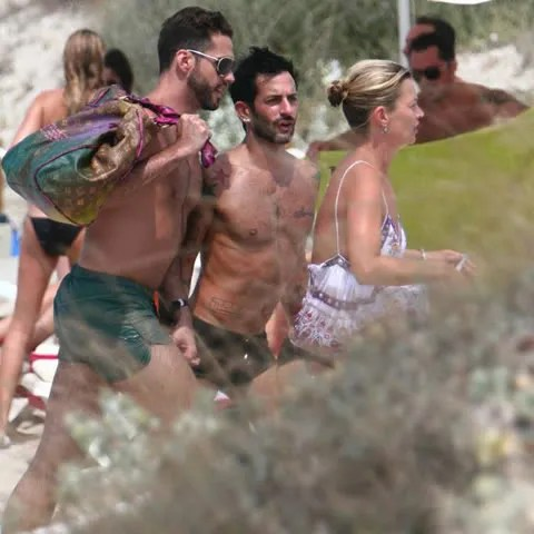 Marc Jacobs in Ibiza with Kate Moss