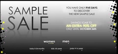Yoox Semi-annual sample sale promo code and discount code, october and november 2008