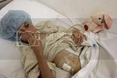 Cluster bomb victim