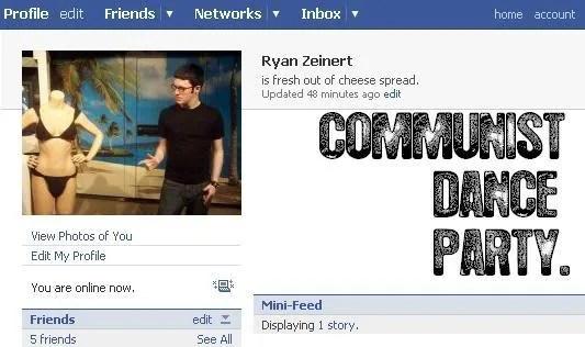 I'm on Facebook.