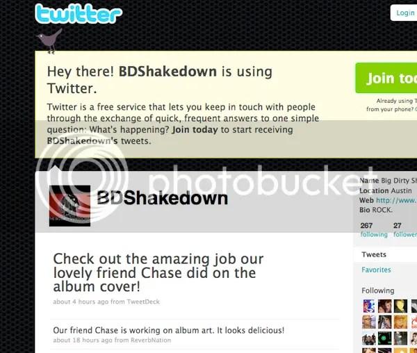 twitter shout - big dirty shakedown