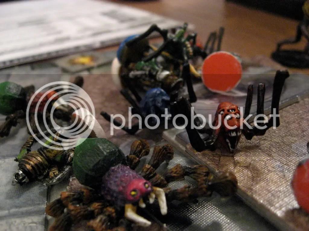 slik kan det altså se ut etter en edderkopp-og-goblin-massakre
