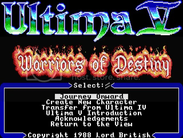 Image result for ultima 5 title screen