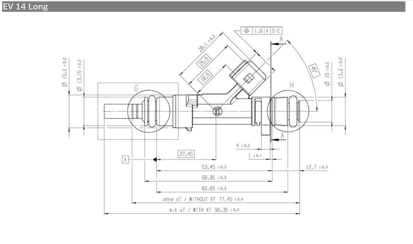 Ev14 Fuel Injectors