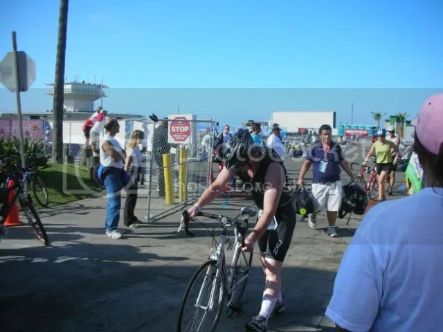 Heading out from the swim to bike transition