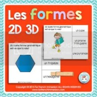 Shapes Clip Cards in French - For French Immersion