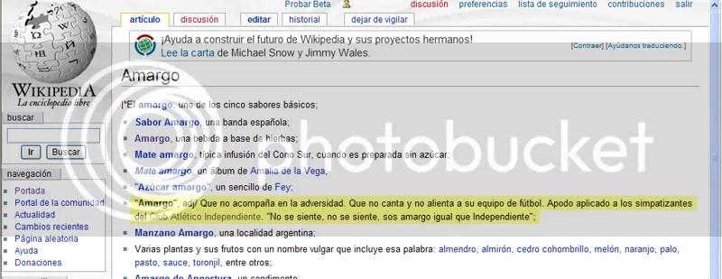 Wikipedia - Amargo