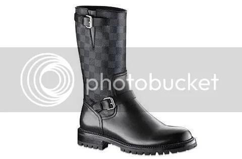 Louis Vuitton Damier Graphite Boots in Damier Canvas
